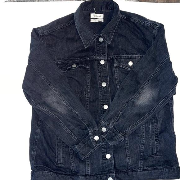 Madewell black Jean jacket.